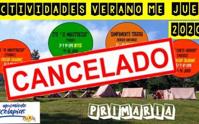 Canceladas las actividades de JU.ES para este verano