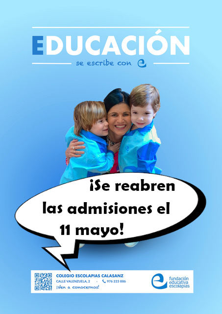 Se reabre el proceso de escolarización el 11 de mayo