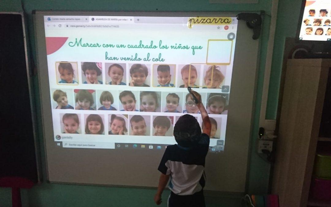 Los niños de 2° Infantil retomando las actividades.